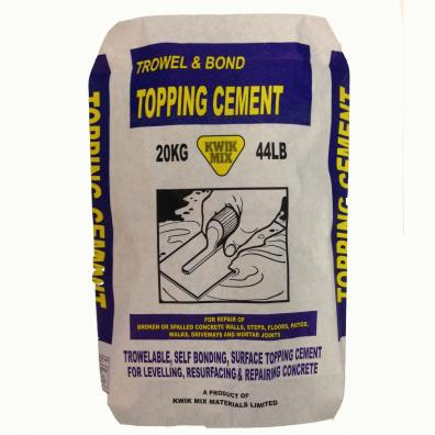 Trowel And Bond Topping Cement Kwik Mix Just Add Water